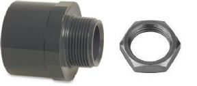 "40mm RIGID WASTE FEMALE x 1 1/4"" MALE BSP NUT IN WITH NUT"